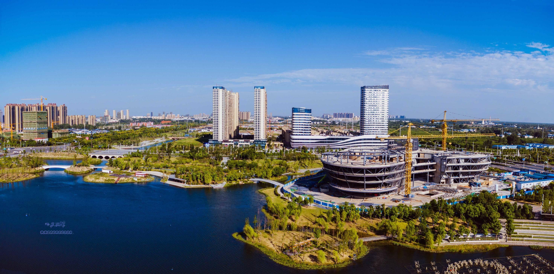 阜阳城南双清湾公园低空